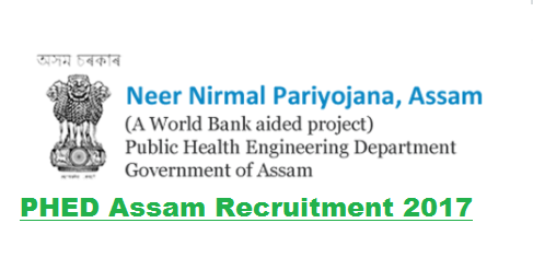 Assam Public Health Engineering Department Recruitment 2017- Assam career .com jobs in assam