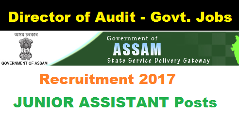 Director of Audit Local Fund Assam Recruitment 2017 - Assam Career , Sarkari Sakori