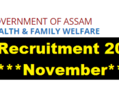 Health & Family Welfare Department Assam Recruitment 2017 Assam Career