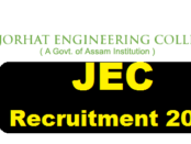 Jorhat Engineering College [JEC] Recruitment 2017 - Current govt jobs in Assam Career