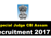 Special Judge CBI Assam Recruitment 2017 - Latest Jobs in Assam