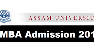 Jawaharlal Nehru School of Management Studies Assam University Admission Notification MBA Programme-2018