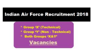Indian Air Force Recruitment 2018 July | Airmen [Group 'X' & Group 'Y'] Posts - Assam Career Jobs Sarkari Sakori Alert Job News Free Job Alert