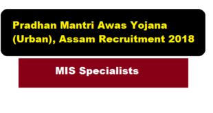 Pradhan Mantri Awas Yojana (Urban), Assam Recruitment 2018 (second) | MIS Specialists Job - Assam Career , Sarkari Sakori, Govt. Jobs in Assam, Free Job Alerts, Jobnews assam
