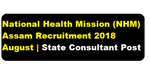 National Health Mission (NHM) Assam Recruitment 2018 August | State Consultant Posts - assam career