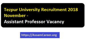 Jobs in TU , Assam 2018 November