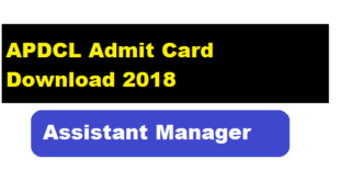 Apdcl Admit Card Download